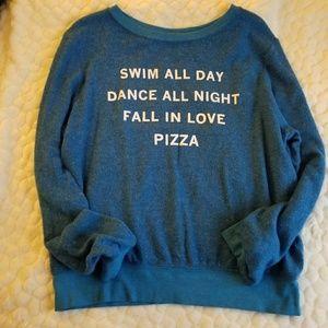 NEW Wildfox Jumper sweatshirt pizza  swim dance